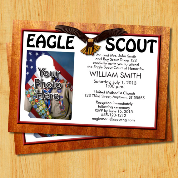 Eagle Scout Court of Honor Invitation – Eagle Scout Invitation Cards